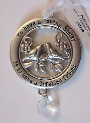 4cd To have loving sister lifetime friend CIRCLE OF LOVE ORNAMENT Ganz