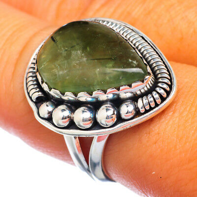 Prehnite 925 Sterling Silver Ring Size 7.75 Ana Co Jewelry R906133F