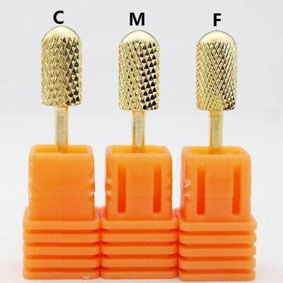 3/32'' Professional Carbide Nail Drill Bit Electric Nail File High quality Gold