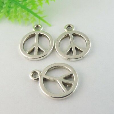 10pcs Antiqued Style Silver Alloy  Oval Shaped 40*30mm Cameo Base Pendants 50204