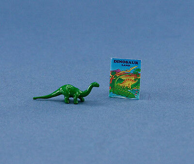 1/12 Scale: Adorable Dollhouse Miniature Toy Dinosaur with Book #HCX109