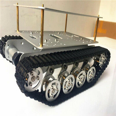 9V Motor Double Shock Absorption Robot Tank Crawler Chassis For Smart Car