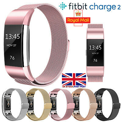 For Fitbit Charge2 Strap Replacement Milanese Band Metal Stainless Steel Magnet^