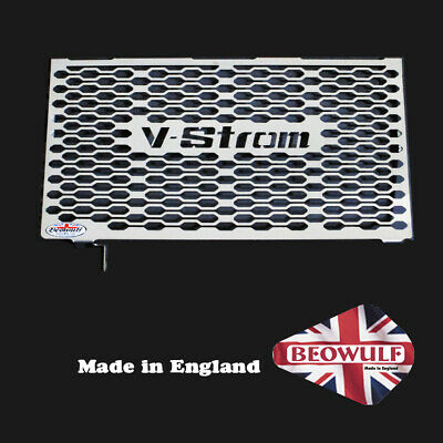 Suzuki DL1000 V Strom (14-18) Radiator Grill Guard in Stainless Steel by Beowulf