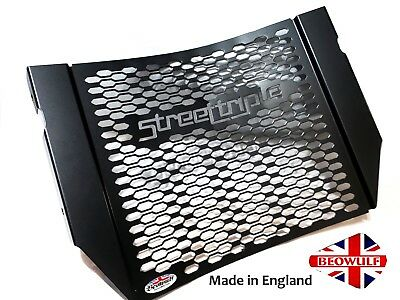 Triumph Street Triple 765 (17-18) Stainless Steel Radiator Grill Guard Black