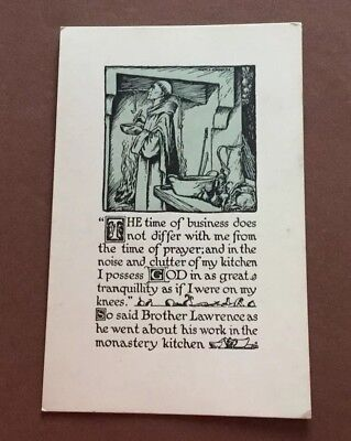 Vintage Prayer About The Kitchen & Monastery