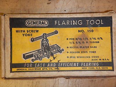 Vintage Usa Made General No. 150 Flaring Tool With Box Tubing Tool