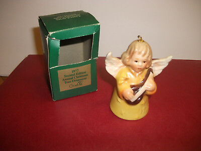 Vintage 1977 SECOND Edition Goebel Angel Bell  Annual Christmas Tree Ornament