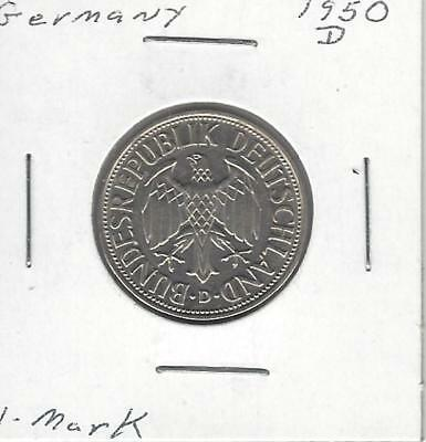 Germany - Federal Republic Mark, 1950 D