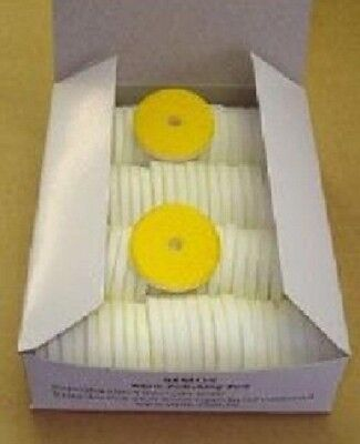 100 Original Simo ZDag 101 Yellow Polishing Pads NEW