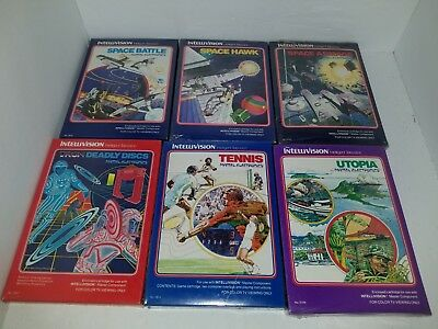 6 New Factory Sealed Gatefold Storybook Games For Intellivision N69