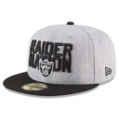 802f82dbe ... store oakland raiders new era 2018 nfl draft official on stage 59fifty  fitted hat 03542 73b8d