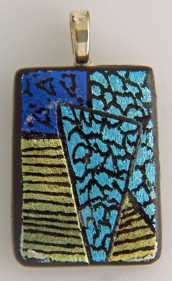 Jazzy Handcrafted Glass Pendant