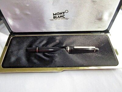 Vtg Montblanc 144 Fountain Pen With 14K-585 Gold Broad Grade 4810 Nib