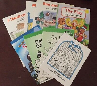 Lot of 8 Early Readers Children's books-Level 1-Early Success, Harcourt, SRA,