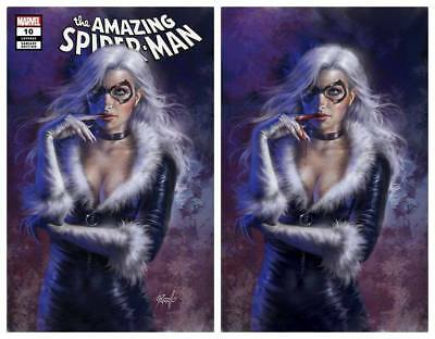 Amazing Spider-Man #10 Lucio Parrillo Black Cat Trade/Bloody Virgin Variant Set