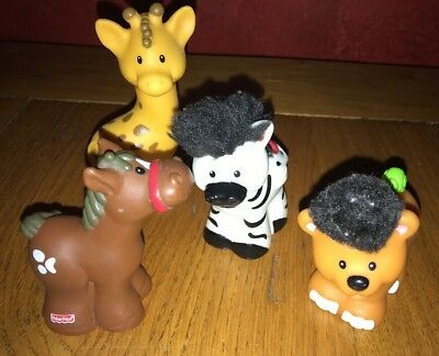 little people fisher price Lot 4 Animaux BE