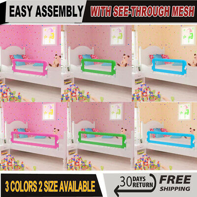 Baby Safety Bed Rail Kid Guard Toddler Bedroom Protection Side Mesh Barrier