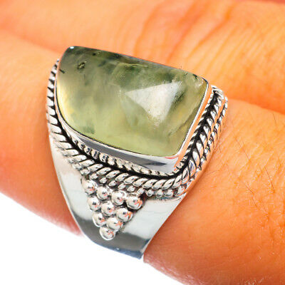 Prehnite 925 Sterling Silver Ring Size 7.5 Ana Co Jewelry 7.5F