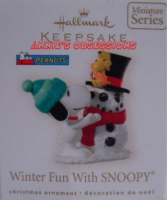 Hallmark 2008 * Winter Fun With Snoopy * 11Th * Miniature * Ornament