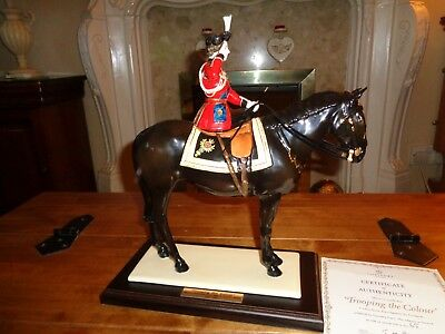 """COALPORT """"TROOPING OF THE COLOUR"""" no:45 of limited edition 450 QUEEN HORSE"""
