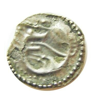 8th century A.D. Silver Anglo Saxon Sceatta Kent Series K. Wolf-headed Serpent