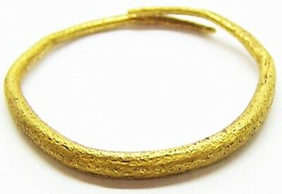 10th - 11th century A.D. Ancient Scandinavian Viking Gold Finger Ring Size 7