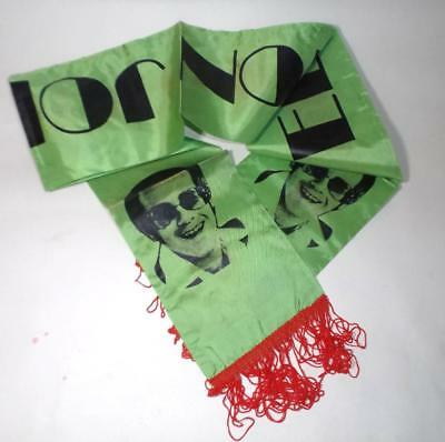 vintage 1975 ELTON JOHN Midsummer Music Wembley CONCERT SCARF - GREEN, unused!