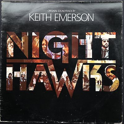 NIGHT HAWKS Soundtrack OST LP Keith Emerson Stallone Rutger Hauer Lindsay Wagner