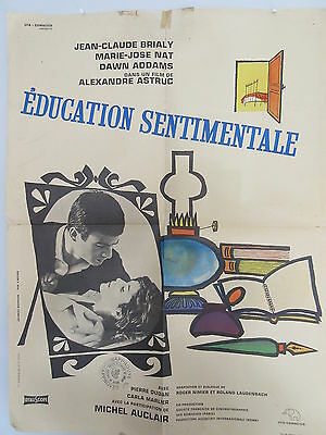 Old 1962 French Movie Poster Education Sentimentale Alexandre Astruc