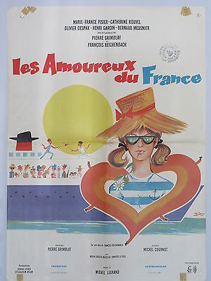 Old 1964 French Movie Poster Les Amoureux du France Pierre Grimblat