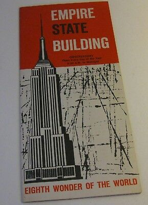 """1960's Empire State Building Tour Brochure """"Eighth Wonder of the World"""""""