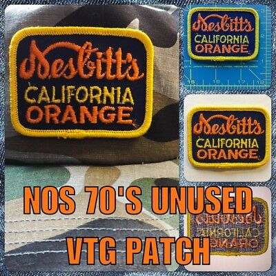 NOS 60's VTG Nesbitt's California Orange Soda UNUSED Cloth hat Patch coke pepsi