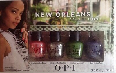 Opi minis New Orleans Jambalayetts Collection nail polish Varnish Boxed Gift set