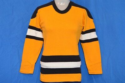 vintage 60s DEE'S SPORTING GOODS YELLOW BLACK LS HEAVY JERSEY t-shirt YOUTH M YM