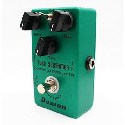 Effect Pedal Distortion Tube Green TS9 TS808 Screamer 2in1 True Bypass Premium