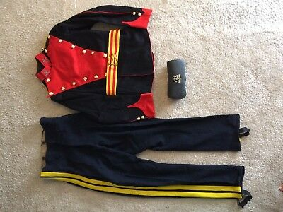 British 1914 dated 9th Lancer dress tunic,belt, cap badge, pants, leather pouch