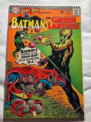 Brave and the Bold #69-Batman and Green Lantern Silver Age 12c VF+