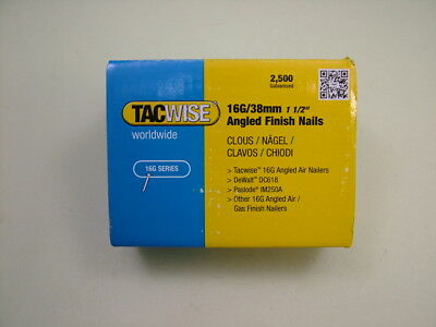 2nd fix collated angled brad nails Tacwise brand 16 gauge 38mm box of 2500