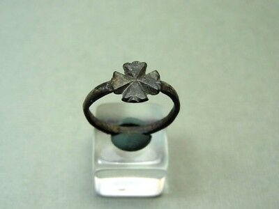 ANCIENT CROSS RING BRONZE 400-600 AD * Holiday reduced prices