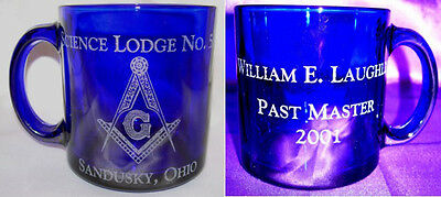 Personalized Masonic Body engraved Coffee cup w/ Name