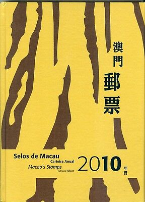 Macau 2010 Annual Stamp Album All Stamps And Souvenir Sheets Mnh Very Fine