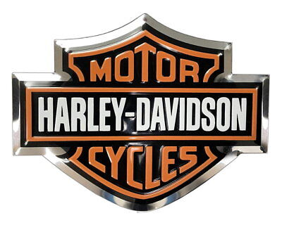 Harley-Davidson 3-D Aluminum Bar & Shield Molded Decal Motorcycle Truck Emblem