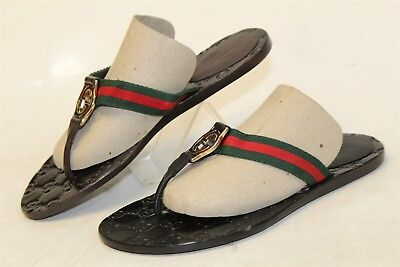 3d4c3af1181 MISMATCH Colors Gucci Womens 36 6 NEW Signature GG Sandals Shoes Italy Made  cr