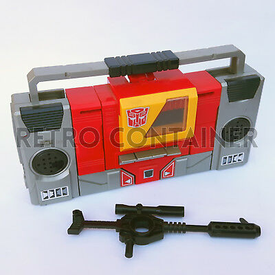 TRANSFORMERS G1 Vintage - Blaster (1985) Complete with Rifle Weapon No Cassette