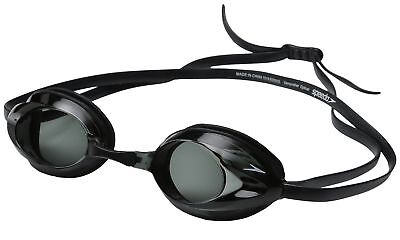 Speedo Vanquisher Optical Competition Swim Swimming Goggles Smoke Diopter -4.0