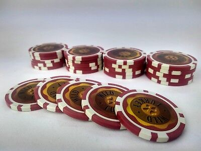 Poker Chips - Professional 11.5gm - Wild Turkey. Choose 25 or 50, red/blue/black