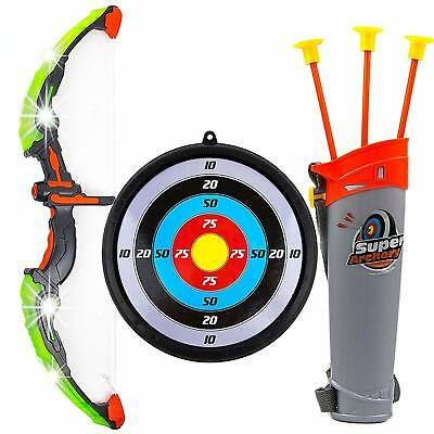 Bow & Arrow Archery Toy Set For Kids with Arrow Holder and Target