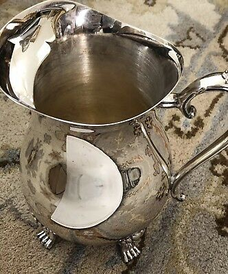 Leonardo Silver plated water pitcher Footed Stand Vintage and ice guard