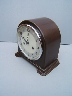 Smiths Enfield Bakelite dome top mantle clock working cleaned lubricated     B2